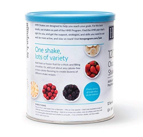 HMR 120 Chocolate Shake, Nutrient Rich, 120 Calories, Canister of 12 Servings by HMR (Image #1)