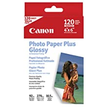 Canon 4x6 Glossy Photo Paper Plus, 120 Sheets (PP-101)