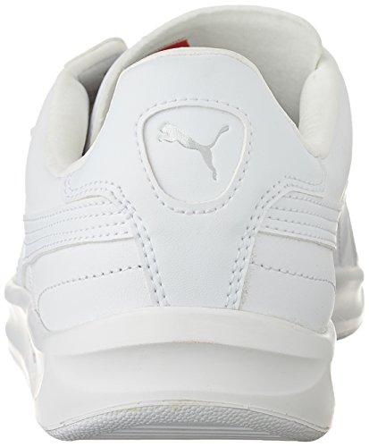 Puma G. Vilas L2 35275812 moda zapatillas de deporte de los calzados informales Blanco - White/Metallic Silver