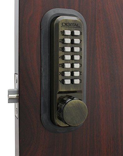 2230AB Mechanical, Keyless Latch Lock by Lockey USA