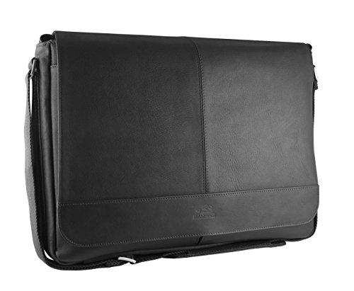 - Mancini Leather Goods Inc Unisex Supple Drum Dyed Colombian Leather 15.6