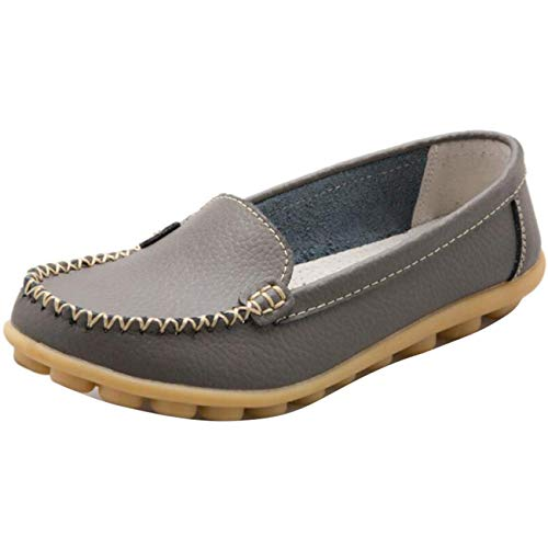 Slip Piatti Da on Uk Donna Shoe Flat Dimensione Tondi colore Mocassini 3 Grigio 6IqaE
