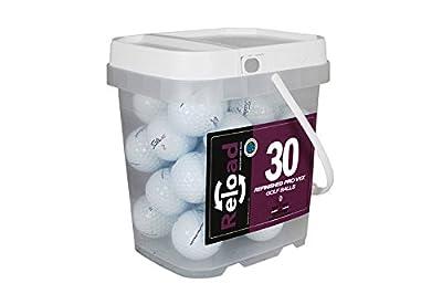 Reload Recycled Golf Balls Titleist Pro v1X Refurbished Golf Balls (30 Pack)