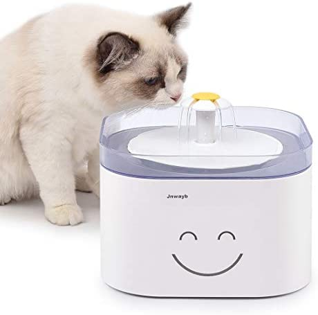 Jnwayb Cat Water Fountain Ultra-Silent Pump Automatic Pet Water Fountain Dog Water Dispenser with Multiple-Layer Filter Dog Cat Health Caring Fountain 2.5L B92 Fountain
