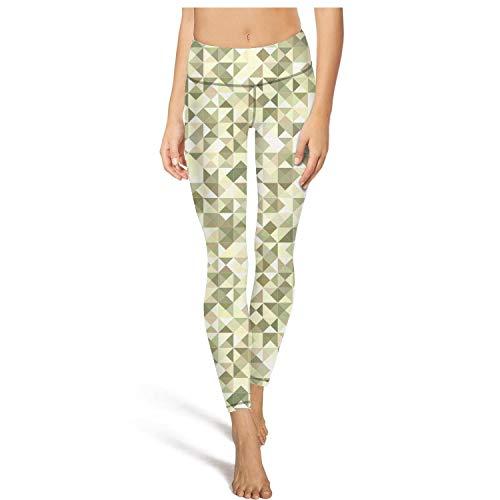 Women's Yoga Pants Printed Leggins Military Diamond camo Training Capris