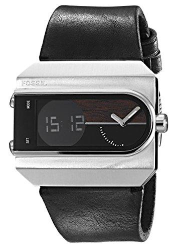 fossil men s jr1477 ellwood digital leather watch black amazon fossil men s jr1477 ellwood digital leather watch black amazon co uk watches