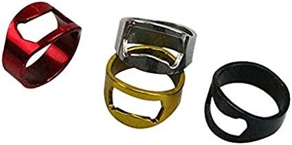 1 Piece Multi-Function Stainless Steel Color Ring Shape Beer Bottle Opener Ring Silver+Black+Red+Golden