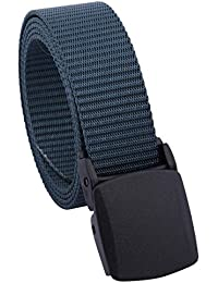 Women's Nylon Webbing Military Style Tactical Duty Belt with Plastic Buckle