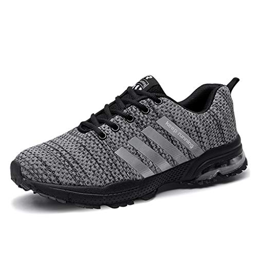 Couple Sneakers Mesh Basketball Running Sport Athletic Shoes Sneakers(Send Socks) Grey (Best Affordable Basketball Shoes 2019)