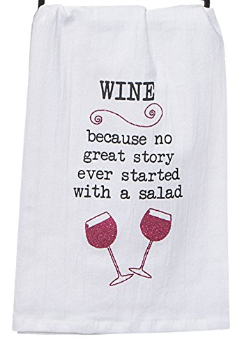 Kay Dee Designs Wine Story Krinkle Flour Sack Towel with Glitter - Dee Kay Designs Wine