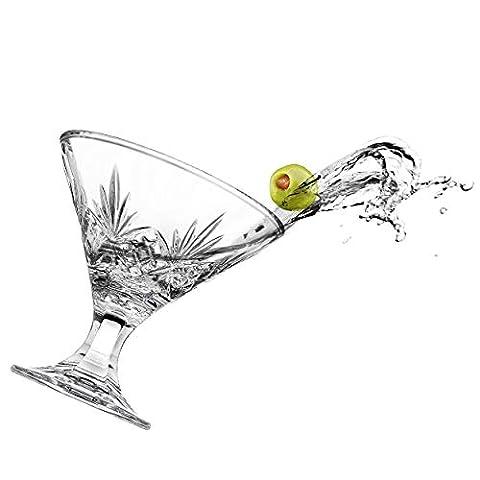 Godinger Martini Glasses, Cocktail Glass – Dublin Collection, Set of 4