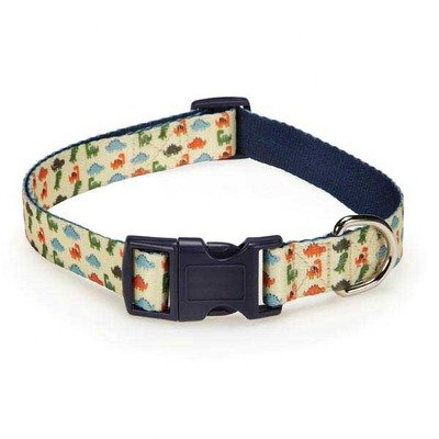 Casual Canine ZA3498 18 95 Dino Dog Collar for Dogs, 18-26-Inch, White