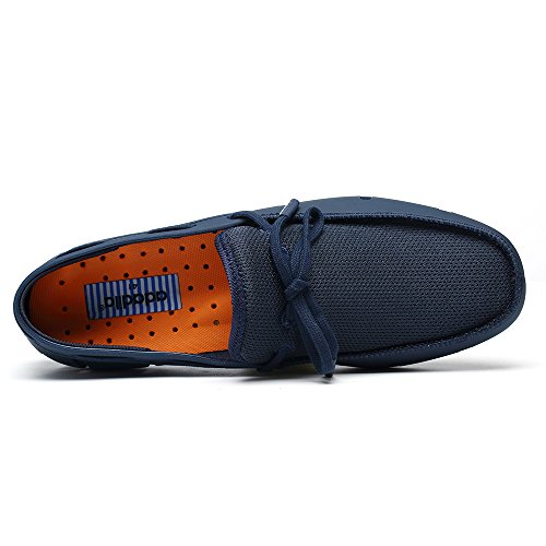 Aleader Mens Lace-up Loafers Boat Shoes Navy 11 D(M) US