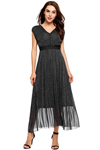 Sparkle Sequin Mesh Gown - 8