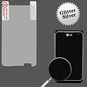 Silver Glitter Screen Protector for LG Motion 4G MS770 Q84G