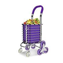 MXXYY Medical Aluminum Shopping Trolley Folding 8 Wheel Large Capacity Shopper , c