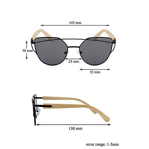 UV Metal múltiples Uso Artesanía de De Aire Unisex de Adecuado Fines Pierna y al Mujeres Diario Sol Lente de Bambú Hombres Personalidad Gububi de para Marco Color Protección Libre Gafas Verde para 5Yq5UHW