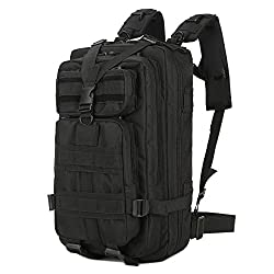 Lovinland 30 L Outdoor Sport Backpack Tactical Rucksacks Military Trekking Bag for Hiking Camping Hunting Black