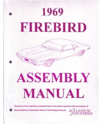 41ZXT845FDL amazon com 1969 pontiac firebird assembly manual rebuild automotive 1969 firebird wiring diagrams at nearapp.co