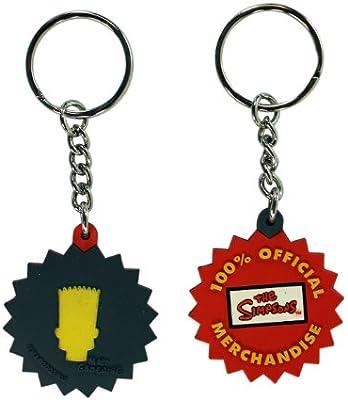 Silicone Bart Simpson Key Chain - Simpsons Llavero: Amazon ...