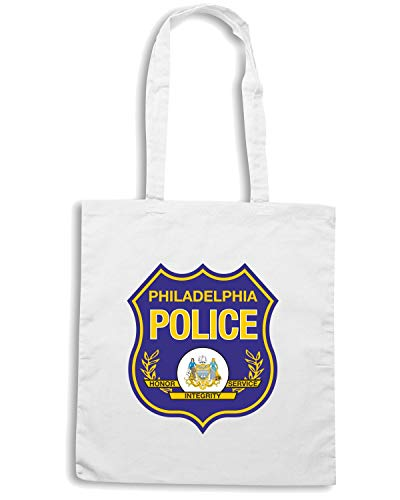 PHILADELPHIA DEPARTMENT CITTA Borsa POLICE Shirt Bianca Shopper Speed TM0112 0a4w8x