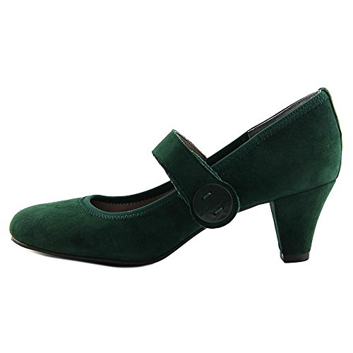 Serie Zaffiro Womens Pump Hunter Green-suede