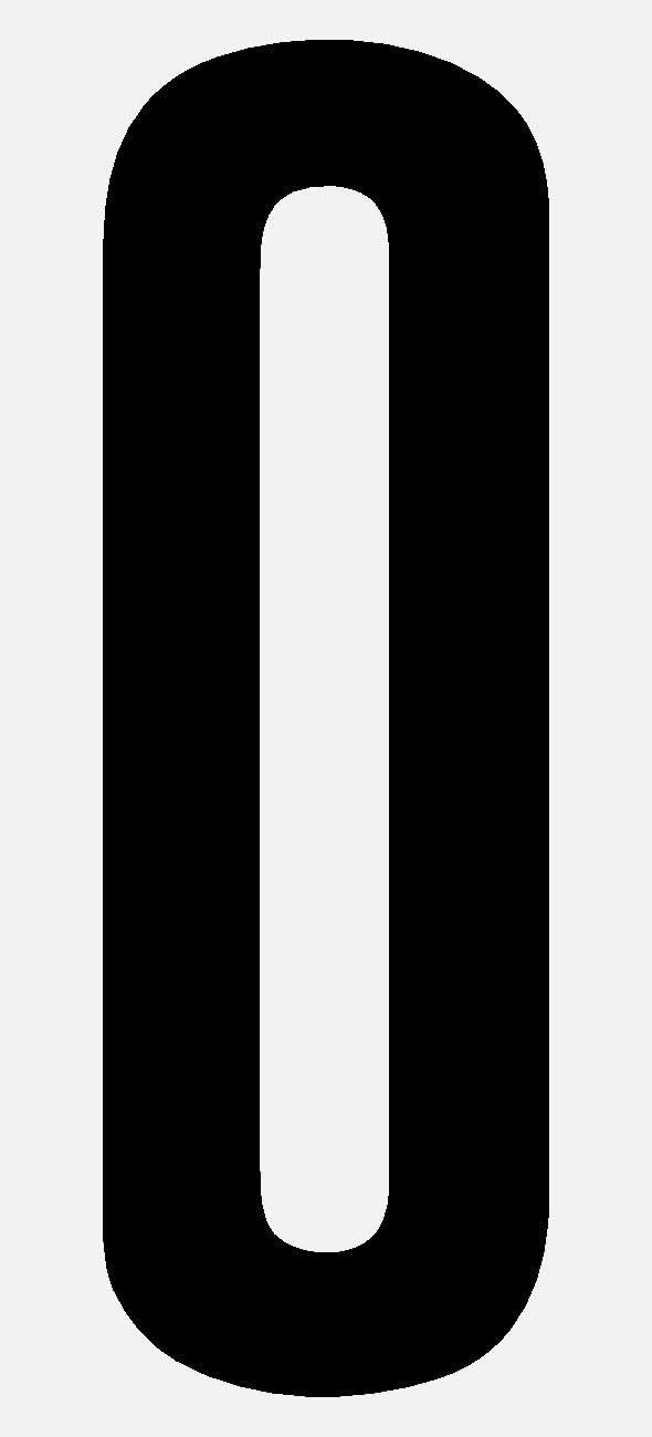 selbstklebende Ziffer 1 10cm seewasserfest f/ür Innen und Au/ßen schwarze Hausnummer Bootskennzeichnung