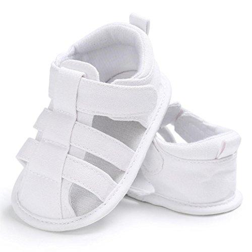 Baby Sandalen, Jungen Mädchen Mode Weiche Leinwand Kleinkinder Kinder Flip-Flops Weiß