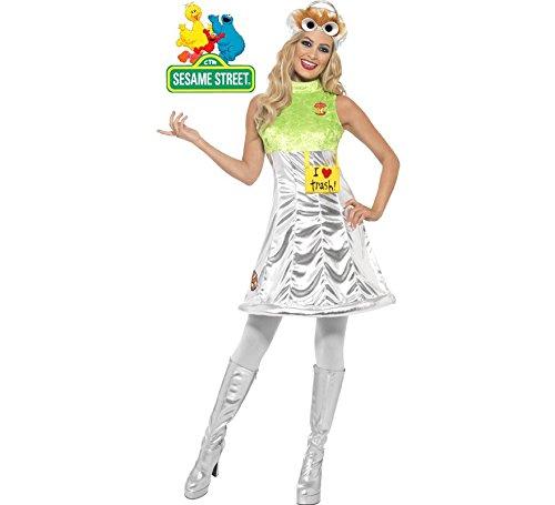 Disfraz de Oscar Barrio Sésamo para mujer: Amazon.es: Juguetes y ...