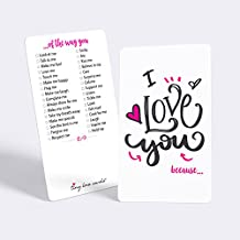 """Tiny Love Cards - Set of 85 Mini """"I Love You because…"""" Cards - Anniversary, Romantic, Boyfriend, Girlfriend, Valentine's, Just Because Note"""