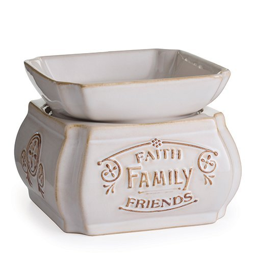 2-in-1 Classic Fragrance Warmer, Faith, Family, Friends (Classic Candle Lamp)
