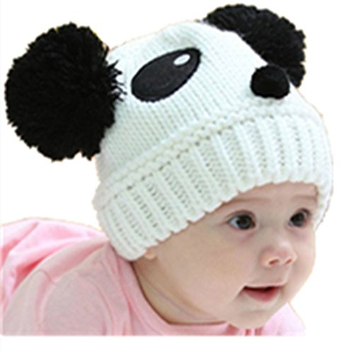 Malltop Baby Knitting Hat Beanie, Cute Kids Stretchy Winter Warm Panda Cap