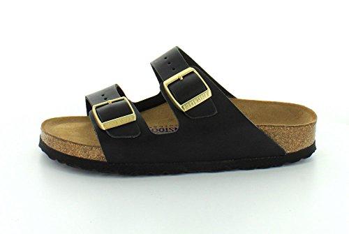 Birkenstock Unisex Arizona Hunter Black Leather Sandals - 40 N EU / 9-9.5 2A(N) US 5dGuvqn