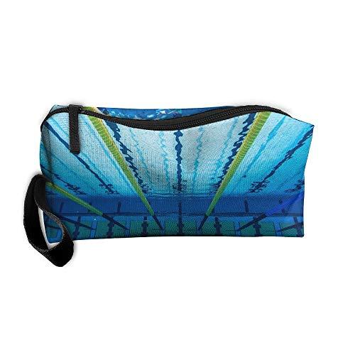 - YangQxio Underwater Swimming Pool Runway Portable Cosmetic Makeup Bag Waterproof Makeup Cosmetic Brush Organizer Zipper Organizer Travel Set Tote Bag