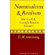 Nominalism and Realism: Volume 1: Universals and Scientific Realism