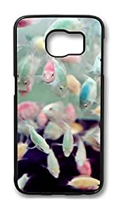 Brian114 Case, S6 Case, Samsung Galaxy S6 Case Cover, Cute Goldfish Retro Protective Hard PC Back Case for S6 ( Black )