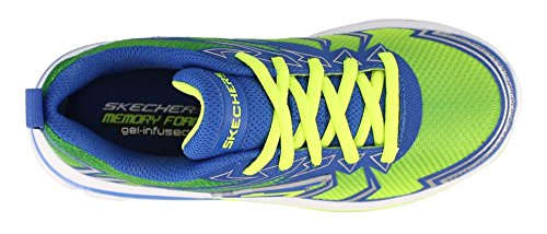 Skechers Nitrate-95364L Boys Toddler-Youth Sneaker 3 M US Little Kid Lime-Blue
