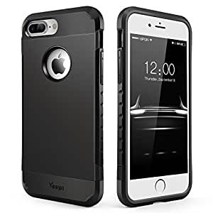 iPhone 7 Plus Case, Slim Anti-Scratch Protective Case Cover Shockproof Heavy Duty Dual layer Rugged Case Non-slip Grip Protection Cover for iPhone 7 Plus-Matte Black
