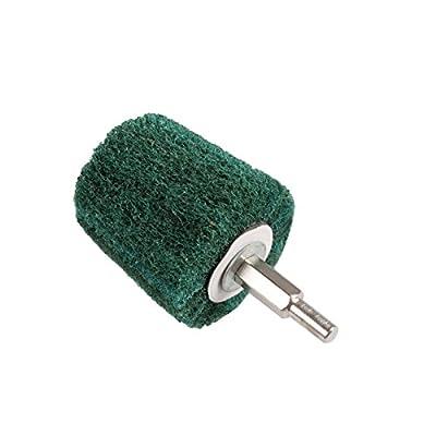 ZFE 7Pcs Coarse Grit Mounted Sanding Mop/Polishing Pad Set For Metal Aluminum,Stainles Steel,Chrome,Jewelry,Wood,Plastic,Ceramic,Glass,etc