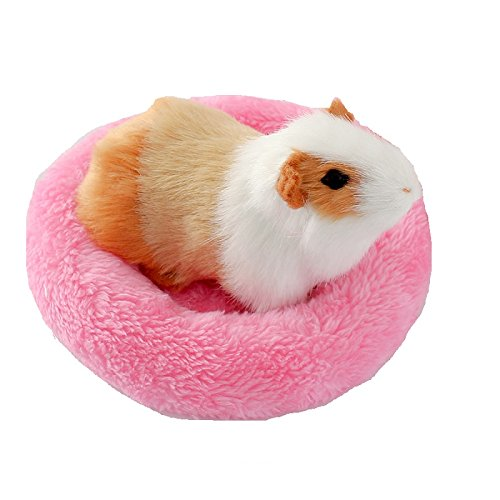 Hamster Bed Soft Warm Cushion for Small Animal – Warm House Sleep Mat Pad for Hamster/Guinea Pigs/Hedgehog/Squirrel/Mice/Rats/Chinchilla (Small, Pink)