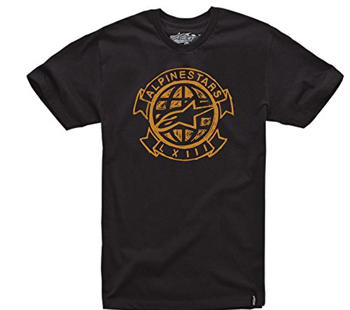 Alpinestars Mens Scrawl Custom Short-Sleeve Shirt, Black, Large
