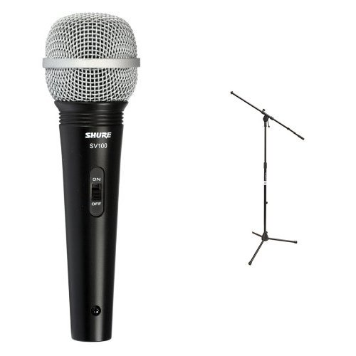 Shure SV100-W Multi-Purpose Microphone with XLR-1/4 Cable and On Stage Stand