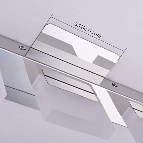 mirrea 18in Modern LED Vanity Light in 3 Lights Stainless Steel and Acrylic 16w Cold White 5000K by mirrea (Image #4)