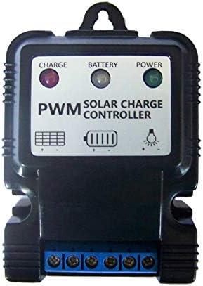 GEZICHTA Solarregler, 6V / 12V Solarladeregler PWM Laderegler Laderegler mit Anzeige Überlastschutz Temperaturausgleich