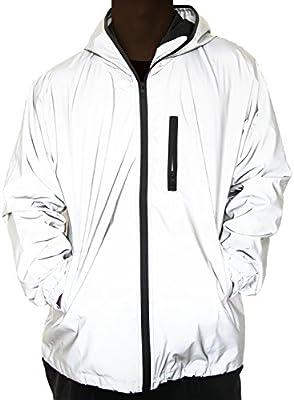 fangfei 3M Reflective Coat Hooded Windbreaker Fashion Runing
