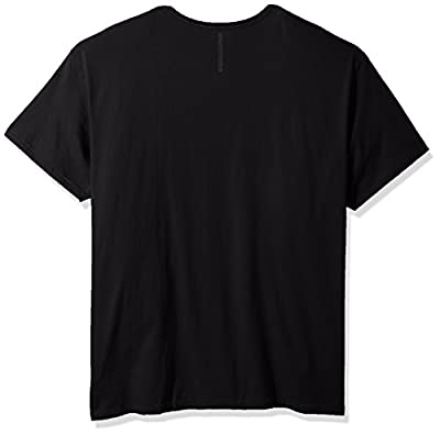 Calvin Klein Men's Big and Tall Short Sleeve Shadow CK Logo Crew Neck T-Shirt