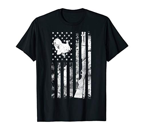 (Turkey Hunting Flag T-Shirt For Hunters | Hunting Gifts)