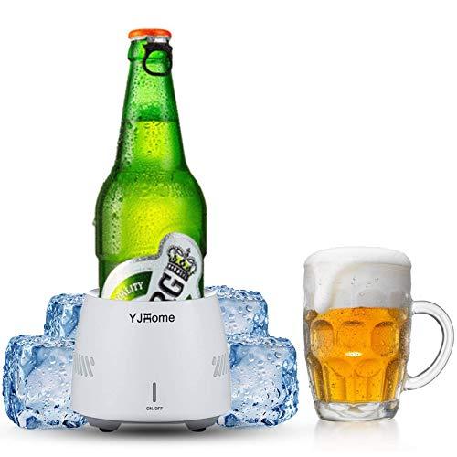 Smart Beverage Cooler Cup YJHOME 350ML Fast Cooler Electric Cooling Mug Cup Portable Mini Desktop Beverage Cooler…