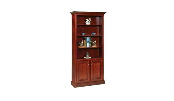Amazon Com Amish Shaker Style Bookcase With Doors Kitchen Dining