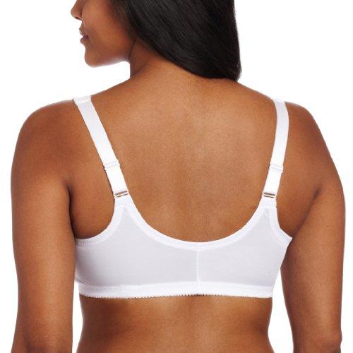 Glamorise Women's Front Close Stretch Lace Wonderwire Bra, White, 38C